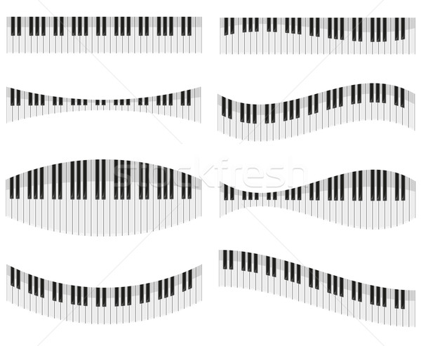 piano keys for different forms of design vector illustration Stock photo © konturvid