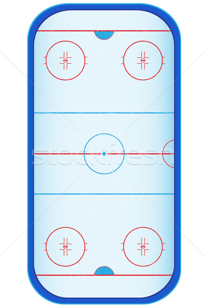 hockey stadium vector illustration Stock photo © konturvid