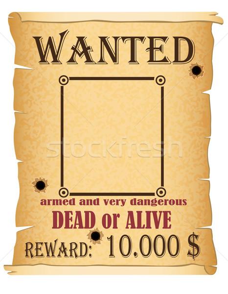 Annuncio ricercato penale poster isolato bianco Foto d'archivio © konturvid