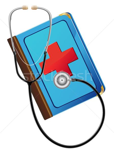 medical book and stetoskop Stock photo © konturvid