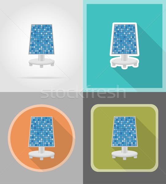 solar battery flat icons vector illustration Stock photo © konturvid