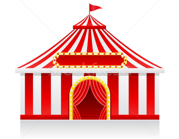 circus tent vector illustration Stock photo © konturvid