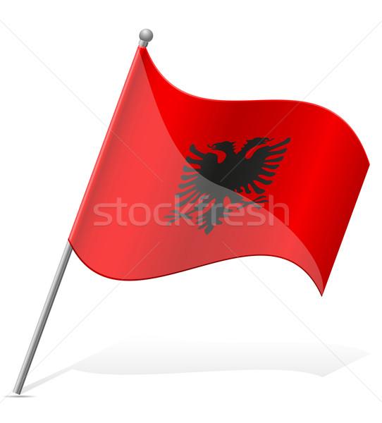 Bandeira Albânia isolado branco mundo pintura Foto stock © konturvid