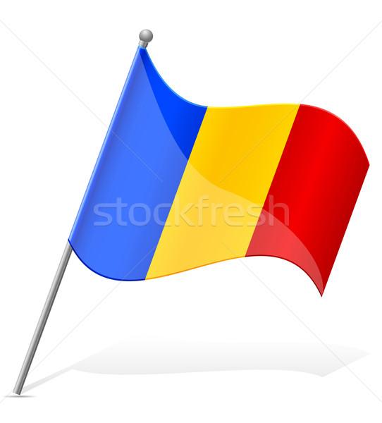 Flagge Andorra isoliert weiß Welt Malerei Stock foto © konturvid