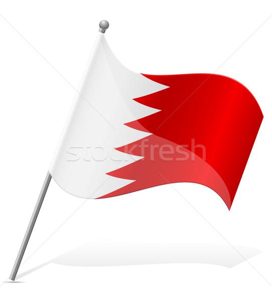 Bayrak Bahreyn yalıtılmış beyaz dünya toprak Stok fotoğraf © konturvid