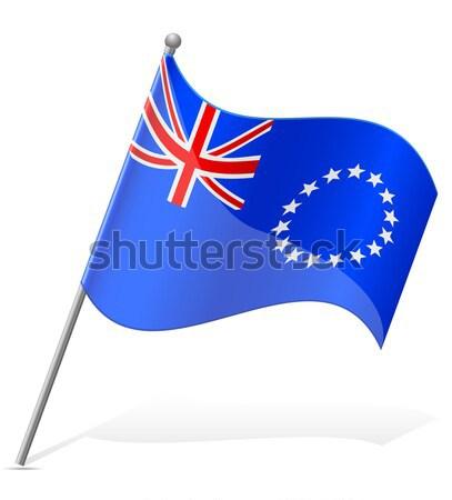 Bandera aislado blanco mundo Foto stock © konturvid