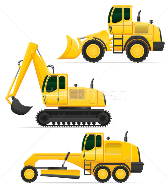 car equipment for road works vector illustration Stock photo © konturvid