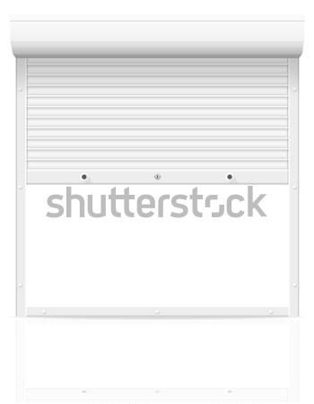 коричневый жалюзи изолированный белый аннотация двери Сток-фото © konturvid