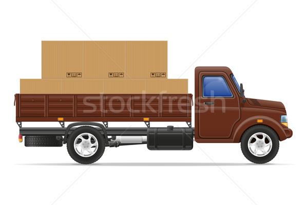 груза грузовика доставки транспорт товары вектора Сток-фото © konturvid