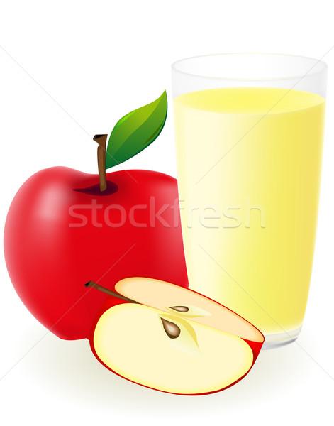 Piros alma dzsúz izolált fehér víz alma Stock fotó © konturvid