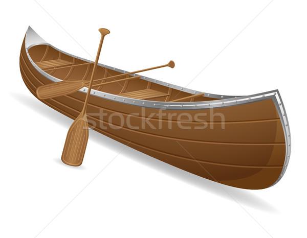 canoe vector illustration Stock photo © konturvid