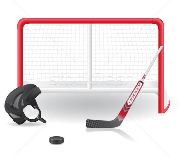 Hockey establecer aislado blanco deporte invierno Foto stock © konturvid