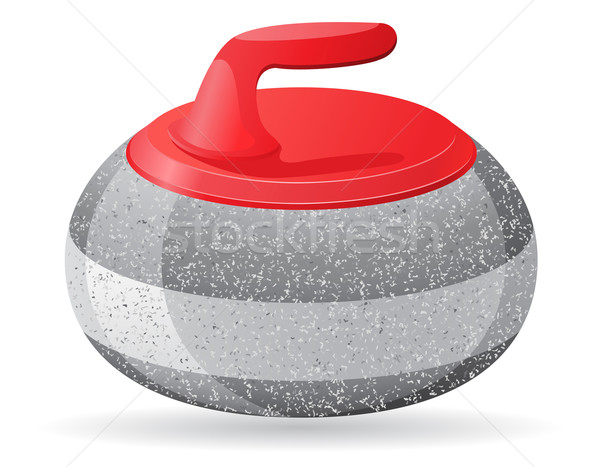 stone for curling sport game vector illustration Stock photo © konturvid