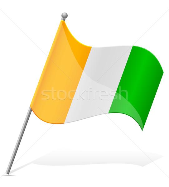 flag of Cote d'Ivoire vector illustration Stock photo © konturvid