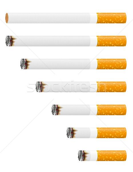 Cigarrillo aislado blanco fondo humo medicina Foto stock © konturvid