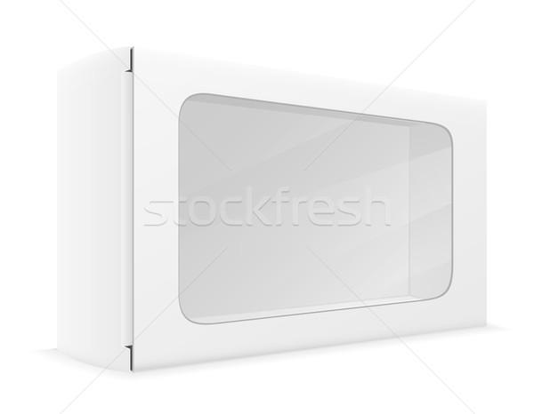 Photo stock: Blanche · papier · carton · boîte · isolé