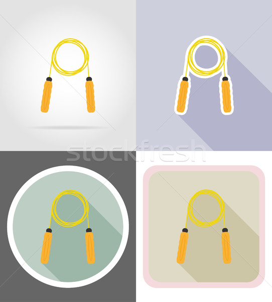 Stock photo: skipping rope flat icons vector illustration