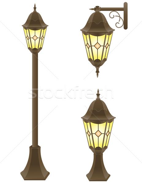 streetlight vector illustration Stock photo © konturvid