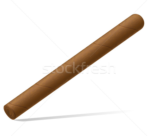 Cigare isolé blanche feu fumée fumer Photo stock © konturvid
