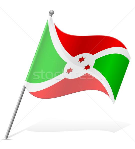 Bandeira Burundi isolado branco globo mundo Foto stock © konturvid