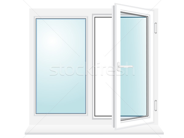 open plastic glass window vector illustration Stock photo © konturvid