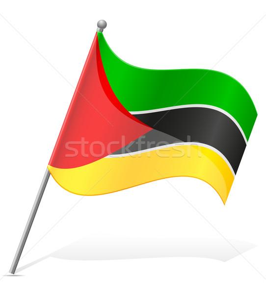 Bandeira Moçambique isolado branco globo mundo Foto stock © konturvid