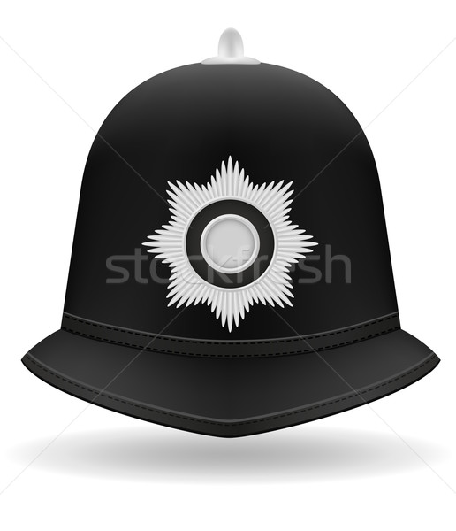 london police helmet vector illustration Stock photo © konturvid