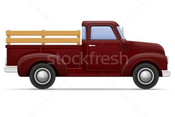 old retro car pickup vector illustration Stock photo © konturvid