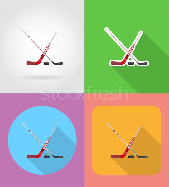 hockey flat icons vector illustration Stock photo © konturvid