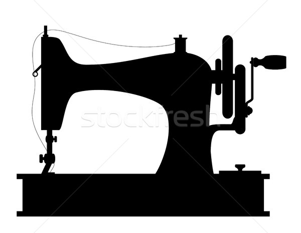 sewing machine old retro vintage icon stock vector illustration Stock photo © konturvid