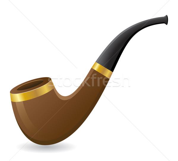 Tabac pipe isolé blanche feu médecine Photo stock © konturvid