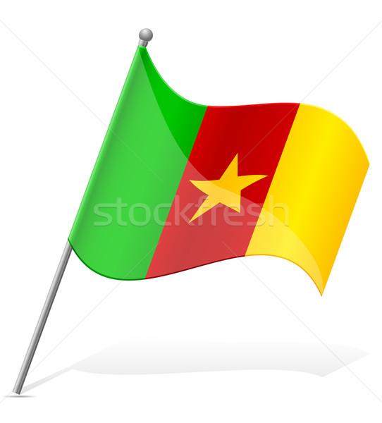 flag of Cameroon vector illustration Stock photo © konturvid