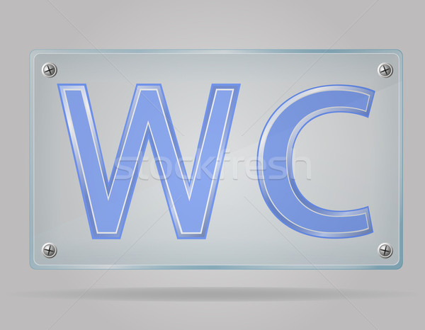 transparent sign toilet on the plate vector illustration Stock photo © konturvid