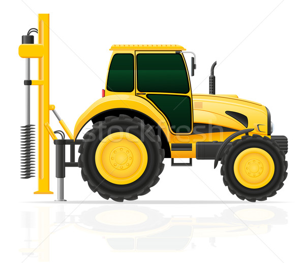 tractor with a drilling rig vector illustration Stock photo © konturvid