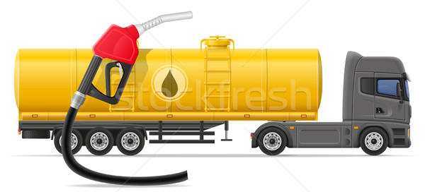 truck semi trailer delivery and transportation of fuel for trans Stock photo © konturvid