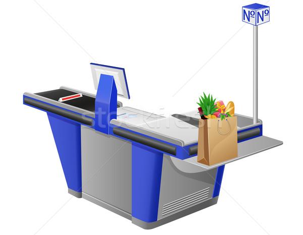 レジ ショッピングバッグ 食品 コンピュータ 食品 フルーツ ストックフォト © konturvid