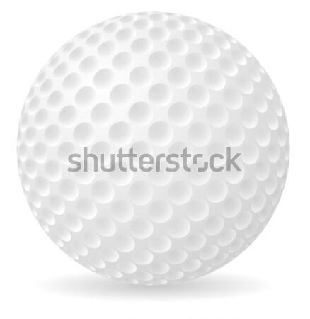 мяч для гольфа изолированный белый гольф спортивных клуба Сток-фото © konturvid