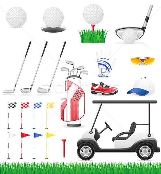 set golf icons vector illustration Stock photo © konturvid