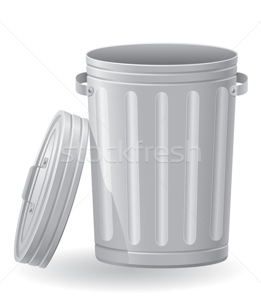 trash can vector illustration Stock photo © konturvid