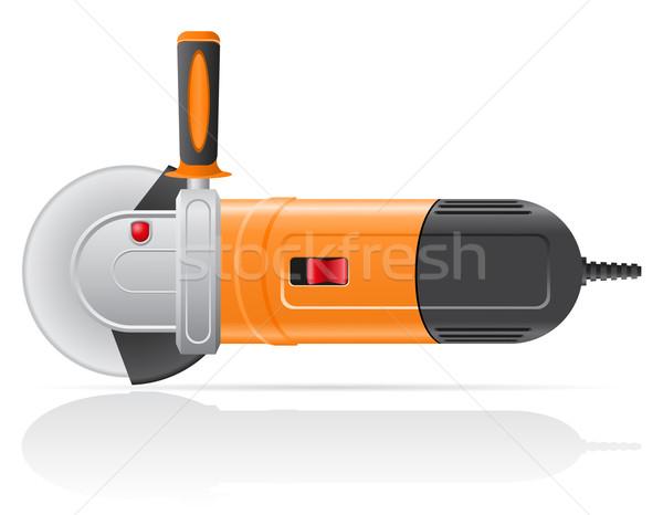 Elektromos szög daráló izolált fehér fém Stock fotó © konturvid