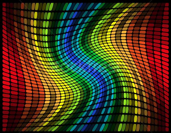Absztrakt tarka grafikus hangszínszabályozó izolált fekete Stock fotó © konturvid