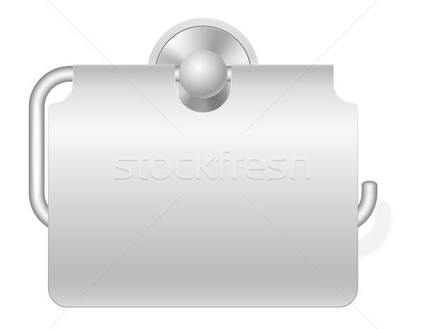 Carta igienica isolato bianco sfondo metal clean Foto d'archivio © konturvid