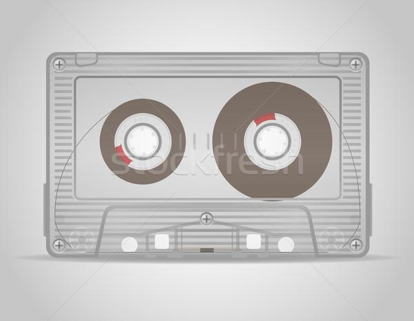 オーディオ カセット 孤立した 白 技術 岩 ストックフォト © konturvid