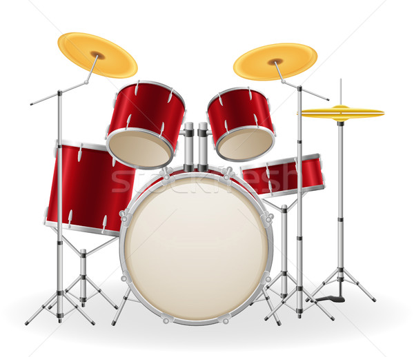 drum set kit musical instruments stock vector illustration Stock photo © konturvid