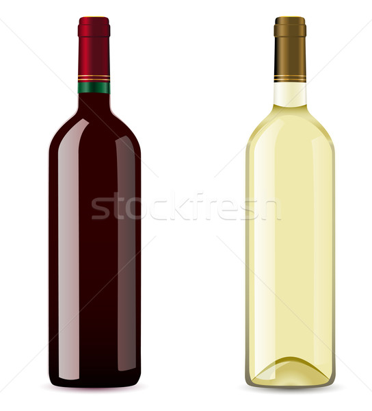 bottle with red and white wine Stock photo © konturvid