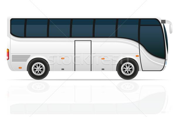 Groot tour bus geïsoleerd witte reizen Stockfoto © konturvid