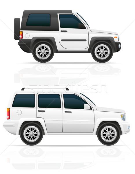 автомобилей Jeep дороги внедорожник изолированный Сток-фото © konturvid