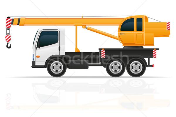 truck crane for construction vector illustration Stock photo © konturvid