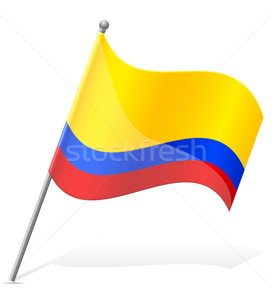flag of Colombia vector illustration Stock photo © konturvid