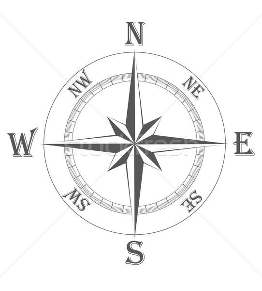 ancient wind rose vector illustration Stock photo © konturvid